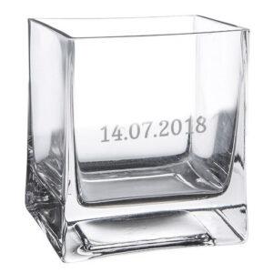 Vaso da Fiori in Vetro personalizzabile